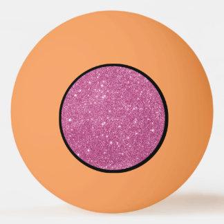 Heißes Rosa-Glitter-Glitzern Ping-Pong Ball