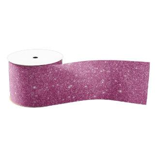 Heißes Rosa-Glitter-Glitzern Ripsband