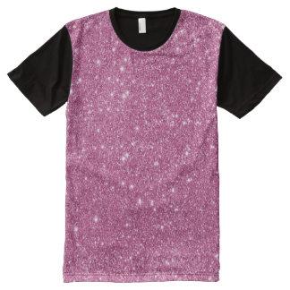 Heißes Rosa-Glitter-Glitzern T-Shirt Mit Bedruckbarer Vorderseite