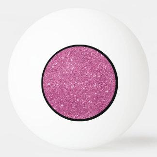 Heißes Rosa-Glitter-Glitzern Tischtennis Ball