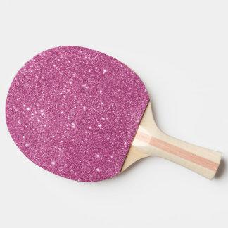 Heißes Rosa-Glitter-Glitzern Tischtennis Schläger
