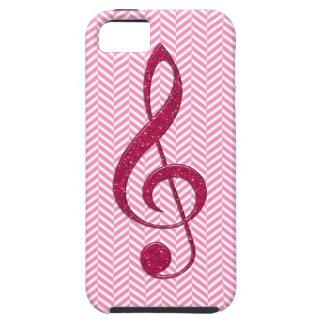 Heißes Rosa-Glitzerdreifacher Clef auf rosa iPhone 5 Hüllen