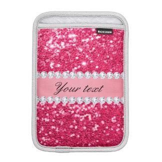 Heißes Rosa-großer Imitat-Glitter mit Diamanten Sleeve Für iPad Mini
