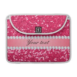 Heißes Rosa-großer Imitat-Glitter mit Diamanten Sleeve Für MacBook Pro