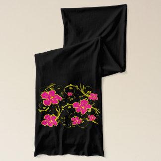 Heißes Rosa-hawaiische Hibiskus-Blumen Schal