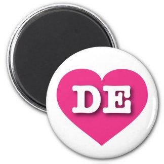Heißes Rosa-Herz Delawares - große Liebe Runder Magnet 5,1 Cm