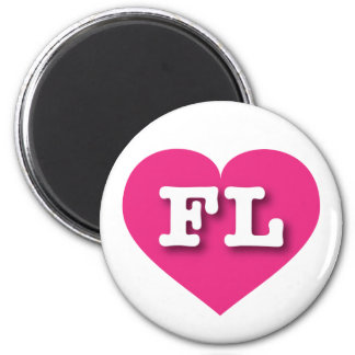 Heißes Rosa-Herz Floridas - große Liebe Runder Magnet 5,1 Cm