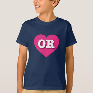 Heißes Rosa-Herz Oregons - große Liebe T-Shirt