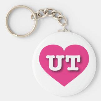 Heißes Rosa-Herz Utahs - große Liebe Schlüsselanhänger