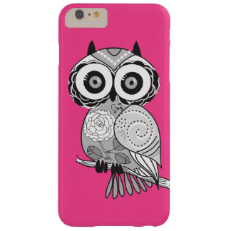 Heißes Rosa-Hipster-Groovy niedliche Eule Girly Barely There iPhone 6 Plus Hülle