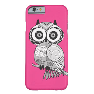 Heißes Rosa-Hipster-Groovy niedliche Eule Girly Barely There iPhone 6 Hülle