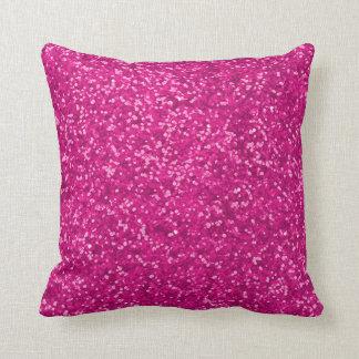 Heißes Rosa-Imitat-Glitter-Blick-funkelnd Glitzern Kissen