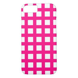 Heißes Rosa iPhone 6 Hüllen - Gitter-Karo