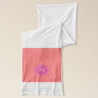 Heißes Rosa, korallenrotes Zickzack   Ihr Schal