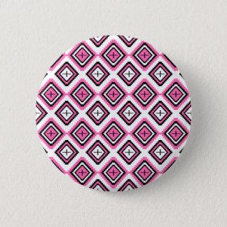 Heißes Rosa-Navajo-inspiriertes Muster Runder Button 5,1 Cm