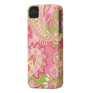 Heißes Rosa-Paisley-BlackBerry mutiges 9700/9780 Case-Mate iPhone 4 Hülle