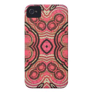 Heißes Rosa-Pfirsich-abstraktes Muster iPhone 4 Hüllen