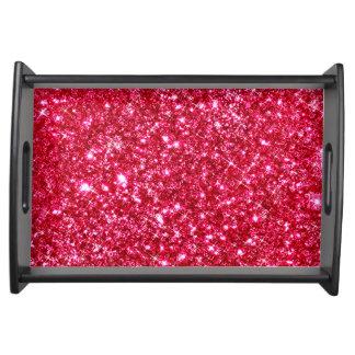 heißes Rosa pinkfarbener kleiner Serviertablett