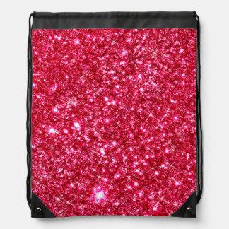 heißes Rosa pinkfarbener kleiner Turnbeutel