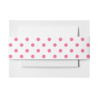 Heißes Rosa-Punkte - Einladungs-Bauch-Band Einladungsbanderole