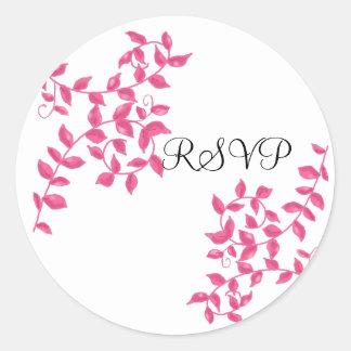 Heißes Rosa-Reben UAWG Runder Aufkleber