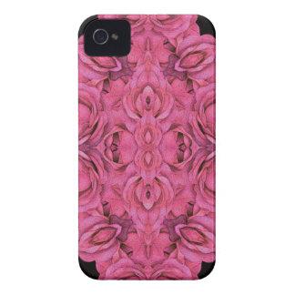 Heißes Rosa-Rosen-Schwarzes iPhone 4 Hüllen