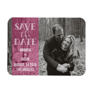 Heißes Rosa-Save the Date Magnet