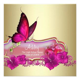 Heißes Rosa-Schmetterlings-Abschluss-Mitteilungen Ankündigungen