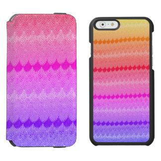 Heißes Rosa-Strick-Häkelarbeit-Wollen Incipio Watson™ iPhone 6 Geldbörsen Hülle
