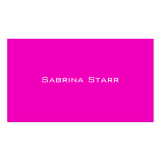 Heißes Rosa-Trend-Neonfarbpersonalisierte Karte Visitenkarten