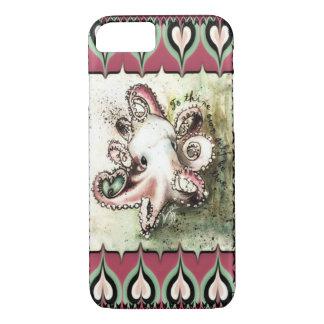 """Heißes Rosa-u. Aqua-Kraken-Liebe-""""Efeu"""" iPhone 7 iPhone 8/7 Hülle"""