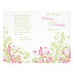 Heißes Rosa und grünes abstraktes Bedruckte Flyer
