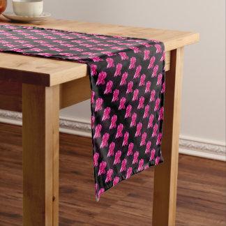 Heißes Rosa-und Schwarz-Rosen-Muster, Kurzer Tischläufer