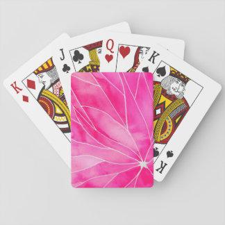 Heißes Rosa-Wasserfarbe-Bruch Spielkarten