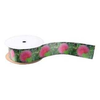 Heißes Rosa-Wildblume-Themed Band Satinband