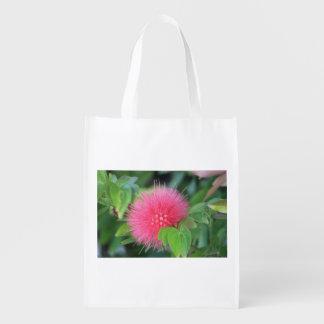 Heißes Rosa-Wildblume-Themed wiederverwendbare Wiederverwendbare Einkaufstasche