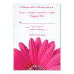 Heißes Rosagerbera-Gänseblümchen-weiße Hochzeit Ankündigungskarten