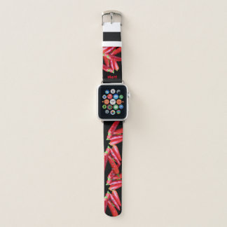 Heißes rotes apple watch armband