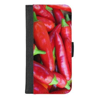 Heißes rotes Chili-Paprikaschoten iPhone 8/7 iPhone 8/7 Plus Geldbeutel-Hülle
