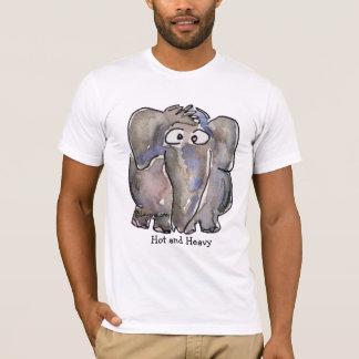 Heißes und schweres Cartoon-Elefant-T-Shirt T-Shirt
