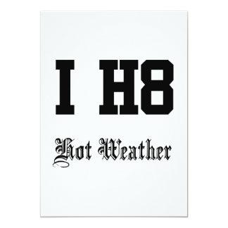 heißes Wetter 12,7 X 17,8 Cm Einladungskarte