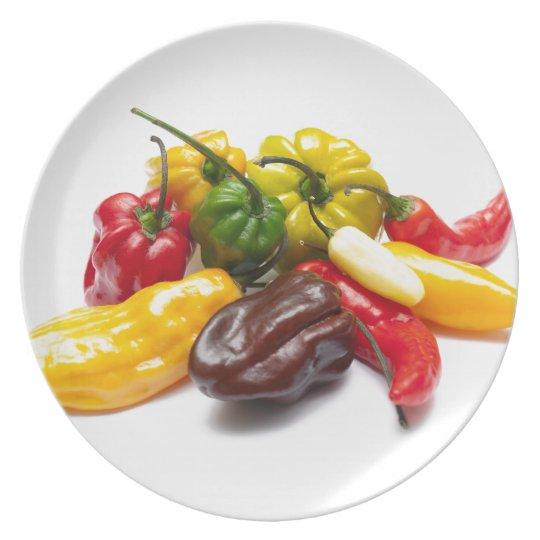 Heißeste Paprikas Teller