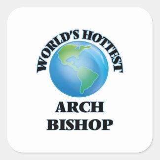 Heißester der Bogen-Bischof der Welt Quadratischer Aufkleber