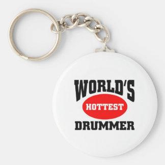 Heißester Schlagzeuger Standard Runder Schlüsselanhänger
