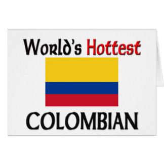 Heißestes kolumbianisches der Welt Karte