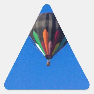 Heißluft-Ballon 1 Dreieckiger Aufkleber