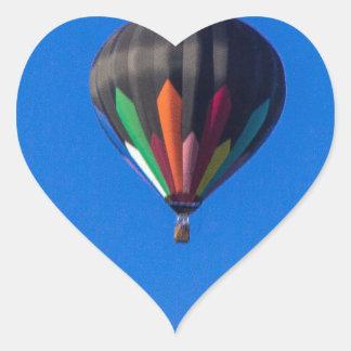 Heißluft-Ballon 1 Herz-Aufkleber