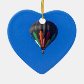 Heißluft-Ballon 1 Keramik Herz-Ornament