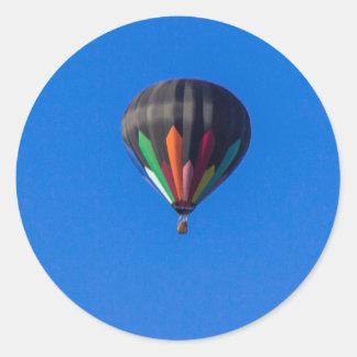 Heißluft-Ballon 1 Runder Aufkleber
