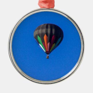 Heißluft-Ballon 1 Silbernes Ornament